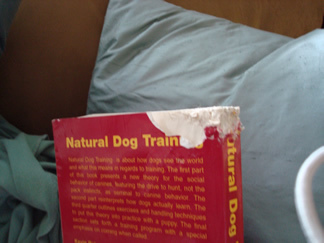 chewed up natural dog training book