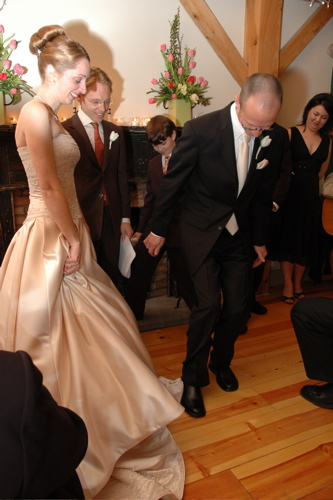 breaking a wine glass at my wedding with a force to be reckoned with