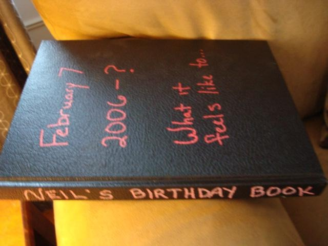neil sattin's birthday book journal
